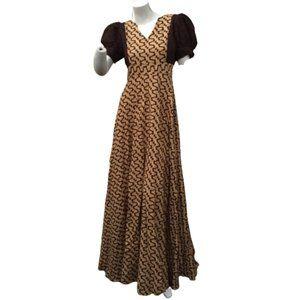 Custom made V Neck Size L African Print Long Dress